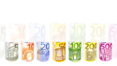 Euro currency spinning, financial concept, loop - stock footage