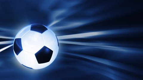 Soccer ball rotating with abstract background,seamless loop - stock footage