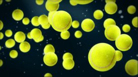 Tennis balls background - motion graphic