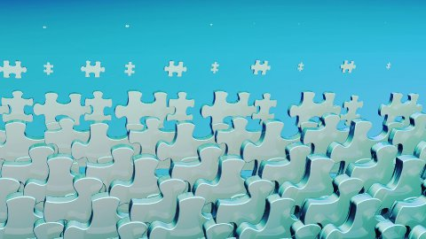 Puzzle Background Loop, Alpha - stock footage