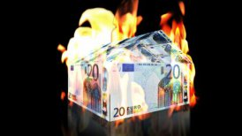 EURO House on Fire, loop - motion graphic