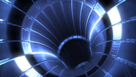 Futuristic blue light tunnel,seamless loop - stock footage