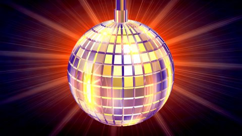 Discotheque Globe,light rays behind,LOOP - stock footage