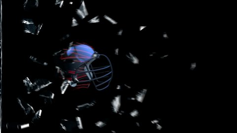 Football-Helmet breaking glass - stock footage