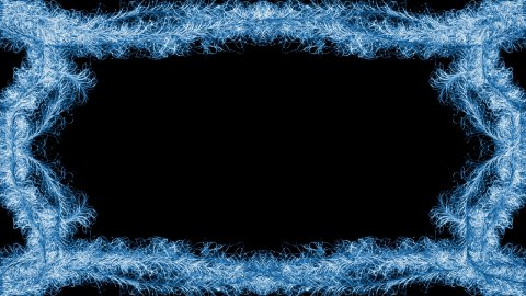 Blue swirls animated frame - stock footage