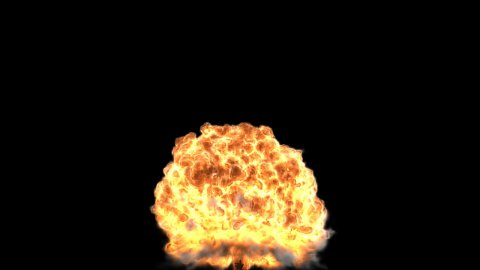 Nuclear explosion high resolution render,frame freezing - stock footage