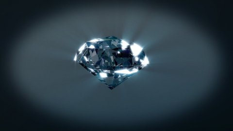 Diamond rotating on xyz axes looping - stock footage