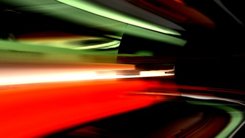 High speed technological tunnel - stock footage