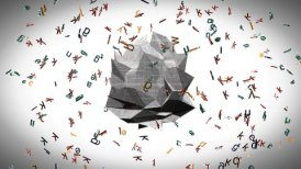 Alphabet soup and newspaper - motion graphic