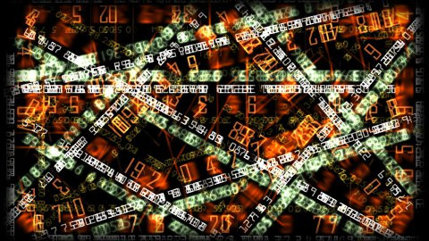 Financial numbers background - stock footage