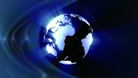 World globe shining ,seamless loop - stock footage