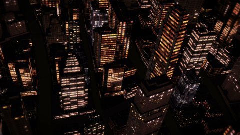 City Night Flight - stock footage