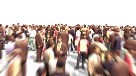 Crowd zoom out - stock footage